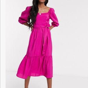 New Look Puff Sleeve Midi Dress